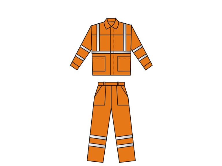Сигнальные костюмы дорожника